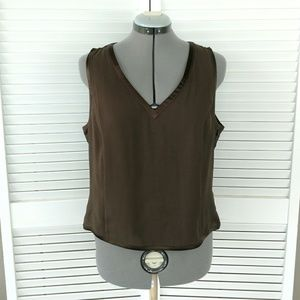 Emanuel Ungaro silk v-neck sleeveless tank 10